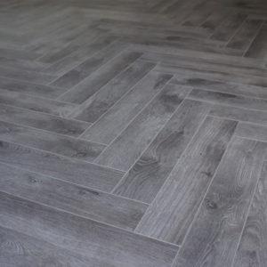 Ash Grey Herringbone
