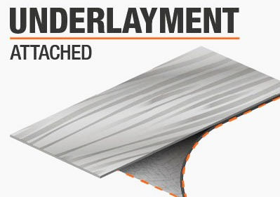 Underlay attached to spc and LVT