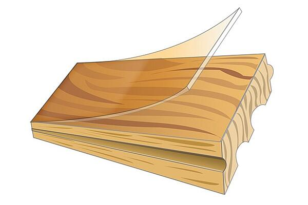 Solid wood plank cross section