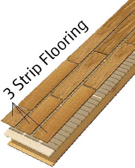 three strip flooring cross section