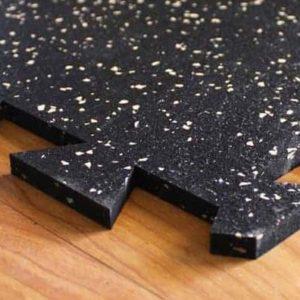 White fleck gym flooring tiles image
