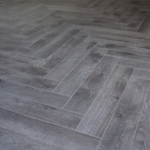 Ash Grey Herringbone
