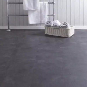 dark concrete spc tiles