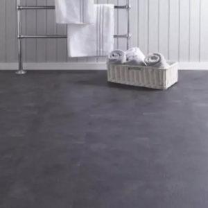 dark concrete spc tiles