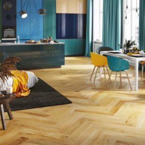 oak caramel herringbone wood floor