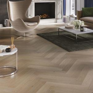 oak Marzipan herringbone floor room setting